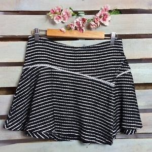 Free People Asymmetrical Skirt Black & White